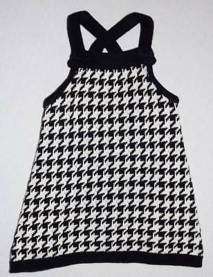 Gymboree vintage holiday friends houndstooth tunic sweater top 5 HCB black white