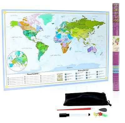 XL Scratch Off Map of The World – Bucket List Features | Wonders of The World