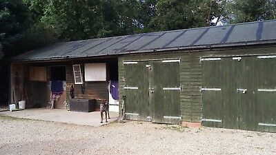 Wooden Outbuilding - Double Garage and Stable block