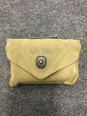 WW2 US Army Khaki First Aide Pouch Dated 1943