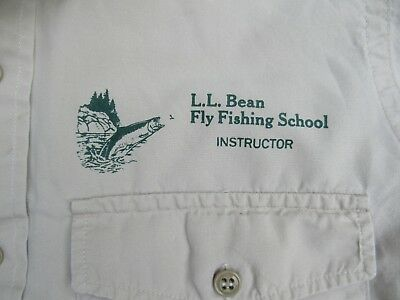 Vintage LL Bean Fly Fishing School Instructor Shirt