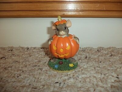 Fitz And Floyd Charming Tails Maxine's Pumpkin Costume Halloween In Orig. Box