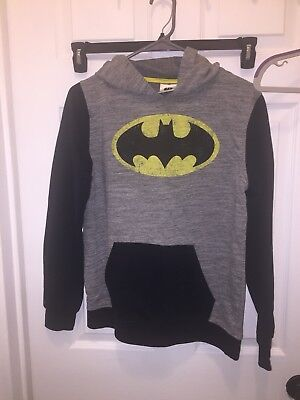 Batman Boys Size XL Long Sleeve Hooded Sweatshirt