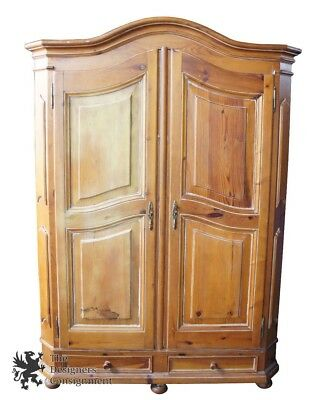 Garcia Furniture Designs Solid Pine Distressed Rustic Country Armoire Wadrobe