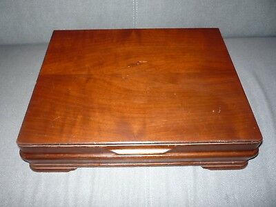 Empty Retro Vintage Wooden Cutlery Box Canteen to hold 6 Settings Flexfit Patent