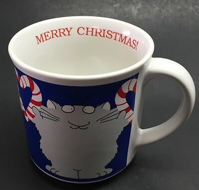 Sandra Boynton Christmas Cat Peppermints Merry Christmas Coffee Mug Cup