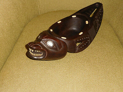 Antique American Indian carved NW coast native art