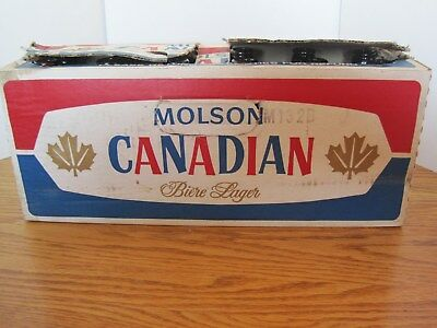 Molson Canadian  beer  Box & Bottles   # 6