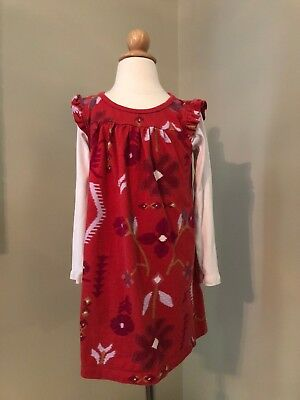 Tea Collection Long Sleeve Layered Southwesten Printed Dress Size 3 3T