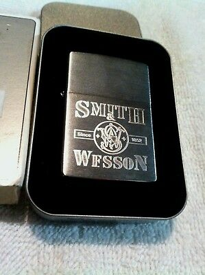 "Vintage Zippo Lighter B-Xvi 2000""smith & Wesson""since 1852 Mint W/tin & Sleeve!"