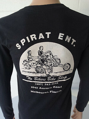 VTG 1980's Spirat Enterprises Long Sleeve Shirt  No Harley Davidson 3D Emblem T