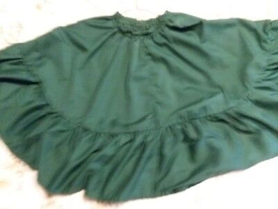 Square Up Ruffle Square Dance Skirt ~ Green ~ Size L