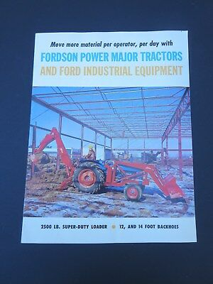 Original 1960 Fordson Power Major Tractor Sales Brochure 4 pages