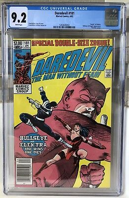 CGC 9.2 Daredevil #181 Death Of Elektra White Pages Marvel Centered Beauty