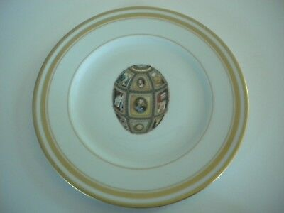 """Faberge Limoges France Imperial Fifteenth Anniversary Egg 8"""" Plate"""