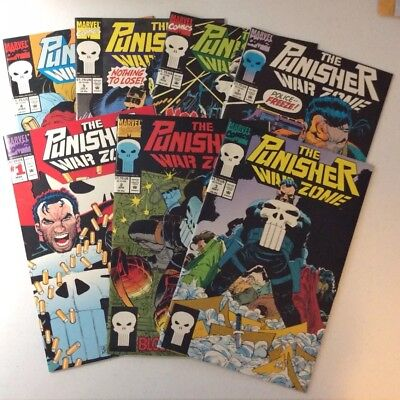 THE PUNISHER WAR ZONE Set Of 1-13 ~ 1992-1994 Marvel Comics ~ NM or better