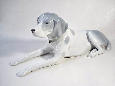 "Gotha Pfeffer Porcelain Recumbent 10.5"" Pointer Dog Figurine *Circa 1900-34"