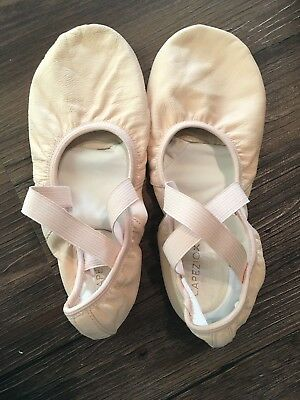 NEW Capezio Balance Pink Split Sole Leather Ballet Shoes Adult Size 10.5