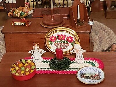 Dollhouse Miniature Artisan Christmas Lot Of Precious Items