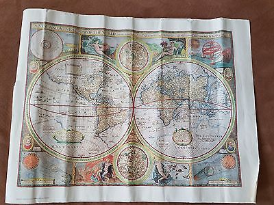 World Map Reproduction Poster A New and Accvrat Map of the World 1651