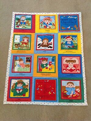 Baby Sign Language - Wall Art / Quilt - Hand Made - One of a kind!