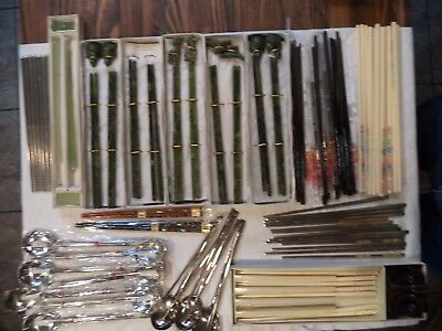 Silver Wedding Spoon and Chopsticks Sets and Jadite and others