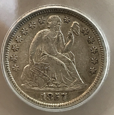 1857 O 10c Liberty Seated Dime AU++ New Orleans Mint