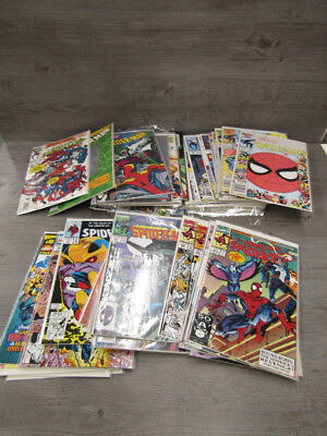 Lot of 50+ Spiderman & Other Comic Books with Sleeves By Marvel Comics