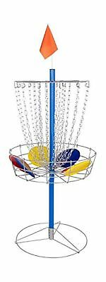 Portable Metal Disc Frisbee Golf Goal Set Comes with 9 Discs