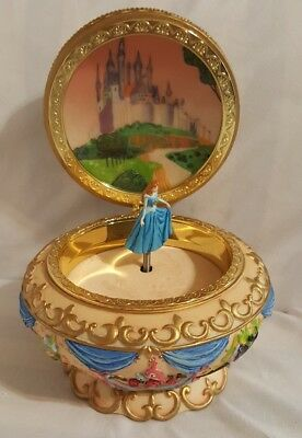 Rare Vintage Disney Sleeping Beauty 3D Music Jewelry Box Aurora Musical