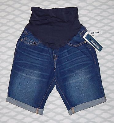 New Old Navy Maternity Casual Shorts Size 2 Full-Panel Denim Comfortable Soft
