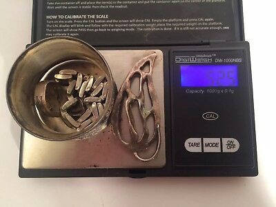 52.5 Grams Total Weight Scrap Sterling Silver Jewelry Lot No Reserve