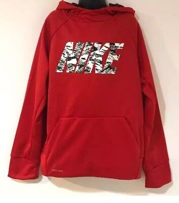 New Boy's Nike Therma Fit Logo Training Pullover Hoodie 856039 657 XLarge NWT