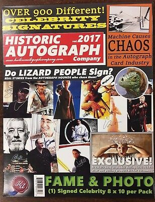 2017 Historic Autographs Fame & Photo Signed Celebrity 8x10 Unopened Package