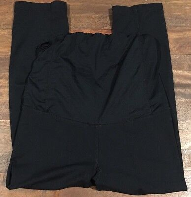 Be Maternity Ingrid And Isabel Leggings Active Yoga Black Cross Over Panel XS