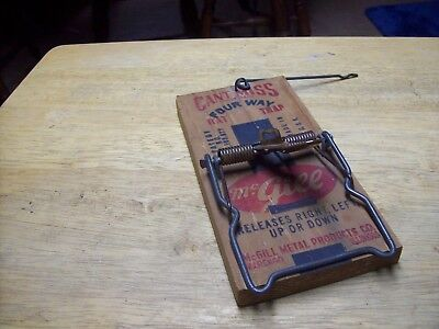 ANTIQUE VINTAGE McGILL CAN'T MISS FOUR WAY RAT TRAP. NEW OLD BUT NEVER ESED