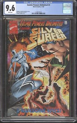 Cosmic Powers Unlimited # 3 CGC 9.6 Thanos Silver Surfer