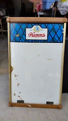 """Hamms Beer Glass Sign In Wood Frame Large 27.5"""" X 16.5"""""""