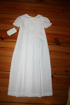 NWT BAILEY BOYS Christening Gown, Underslip, Bonnet Sz SML