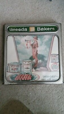 NABISCO UNEEDA BAKERS METAL AND GLASS ADVERTISING PICTURE FRAME CIRCA 1920s