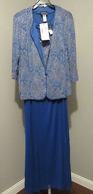 Alex Evenings Blue Size 24W 2Pc Jacket Dress Mother Of The Bride Nwt