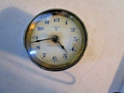 Trusty Time Ship's  Clock Or Plane ?? Made In Germany 8 Day,  Key Wind !!!