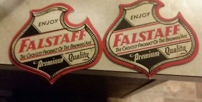 2 falstaff Shield Coasters