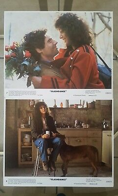 FLASHDANCE 1983 Lobby Cards #7 & #8 JENNIFER BEALS 830015 PARAMOUNT PICTURES