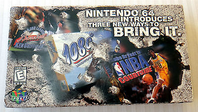 N64 Nintendo 64 Promo VHS Movie Video Tape NEW SEALED Sports Games Rare