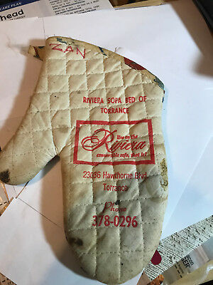 Pot Holder Advertisement For Riviera Sofa Bed Of Torrance, Old