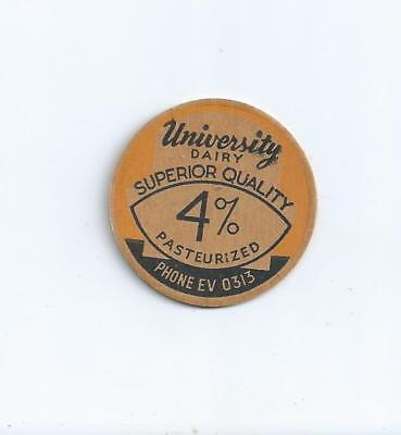 """University Dairy""   Seattle, Wash. milk bottle cap."