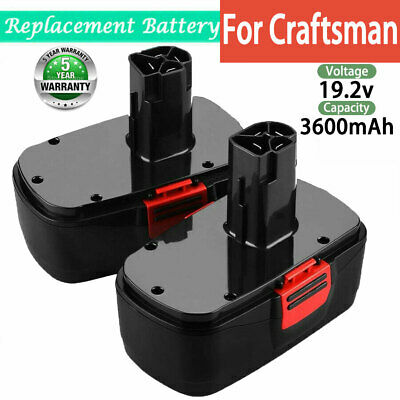 2X 3.6Ah For Craftsman 19.2V C3 Battery NiMH 11375 130279003 130279005 130279017