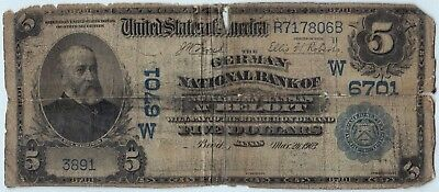 *Rare Bank* 1902PB $5 Ch.6701 German National Bank of Northern Kansas at Beloit