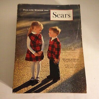 Vintage 1966 Sears Fall and Winter Catalog Fashion Home Auto 1183 Pages